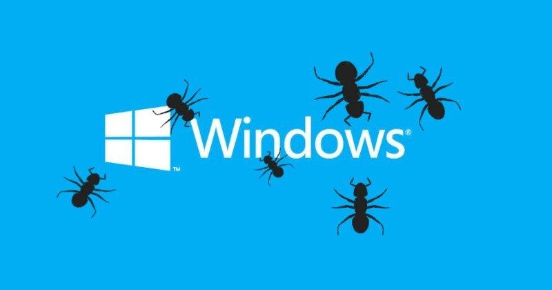 Bug no windows