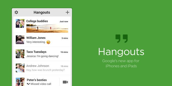 Google hangouts no iOS