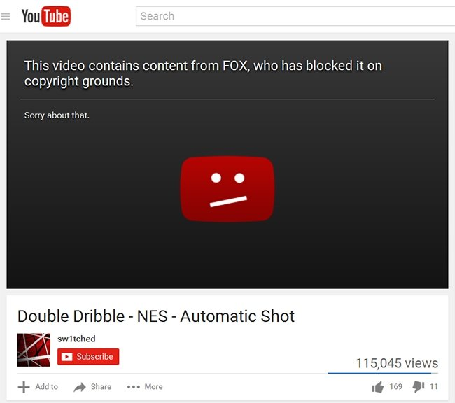 Youtube bloqueado por direitos de autor