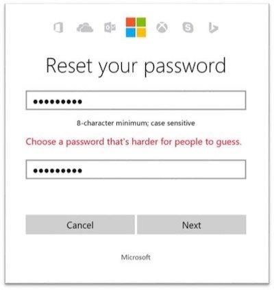 Sistema de segurança da Microsoft