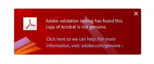 Notificação enviada da Adobe