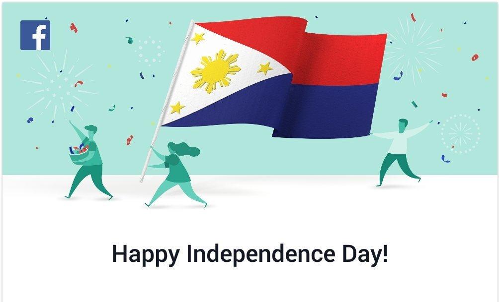Facebook e a bandeira das Filipinas