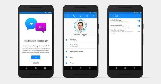 Facebook Messenger e as SMS's