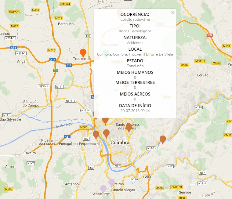 mapa de emergencia