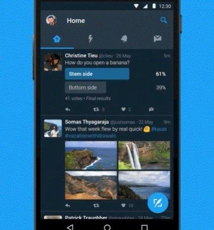 Twitter em modo escuro