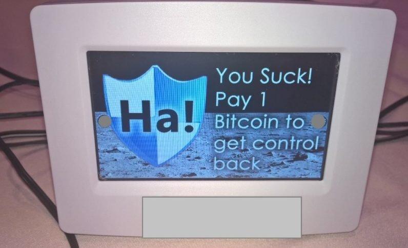 termostato com ransomware