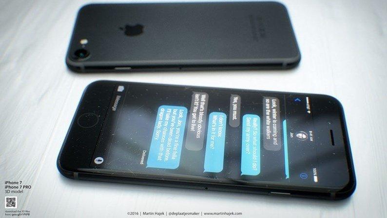 iphone 7 em tons pretos