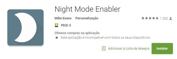 night mode enabler