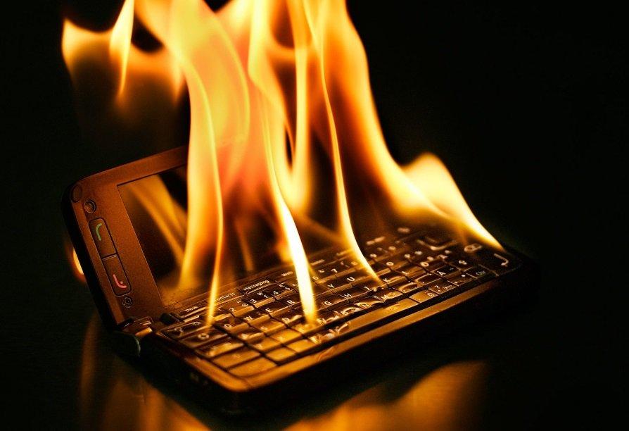 telefone a arder