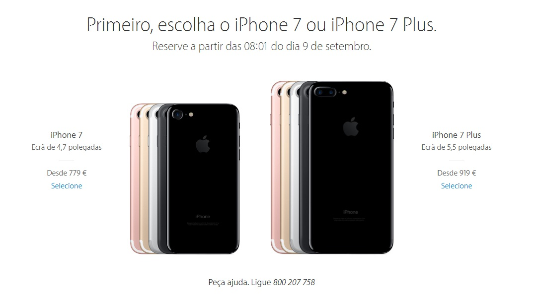 iphone 7 em portugal