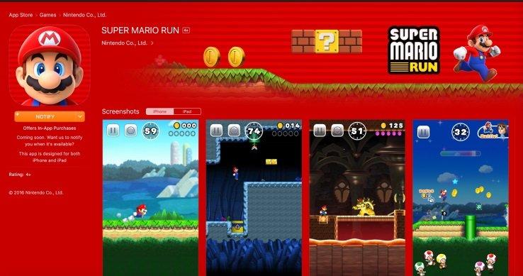 App Store super mario run