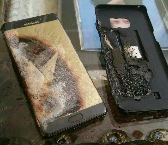 Samsung galaxy note 7 queimado