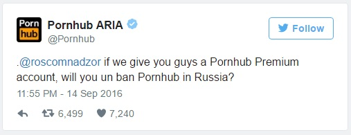 tweet do pornhub