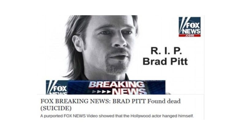 falsa noticia de brad pitt
