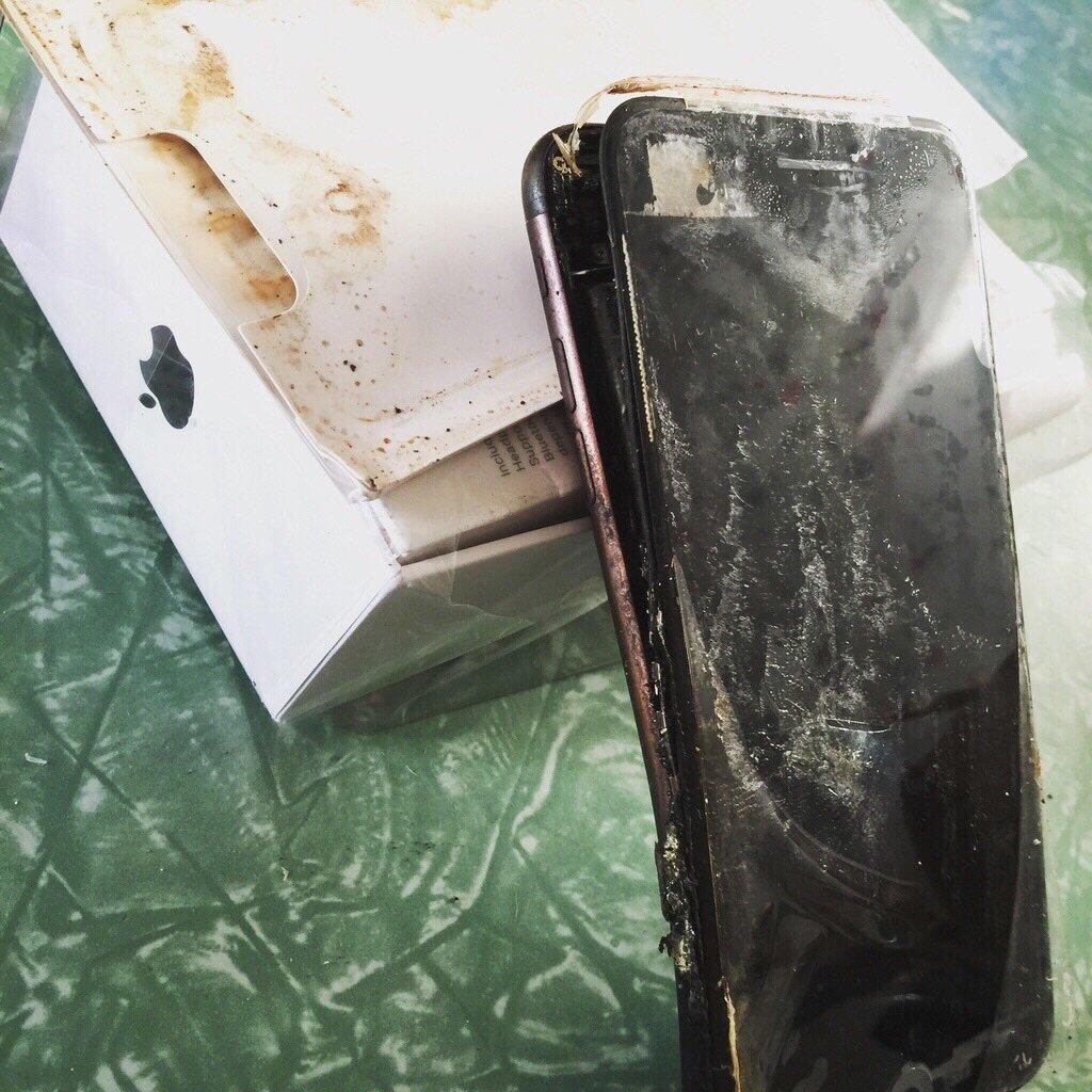 iphone 7 queimado