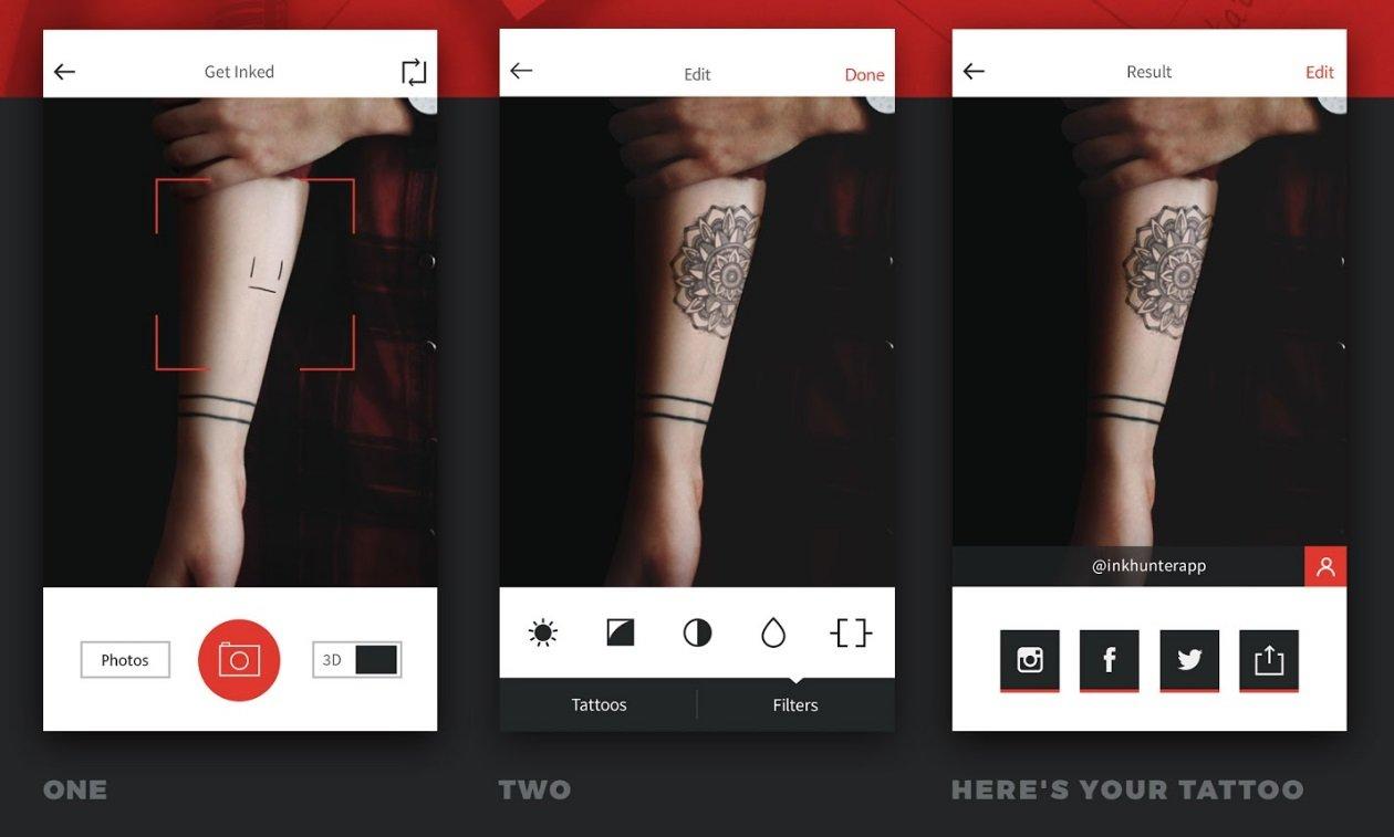 imagem virtual da tatuagem
