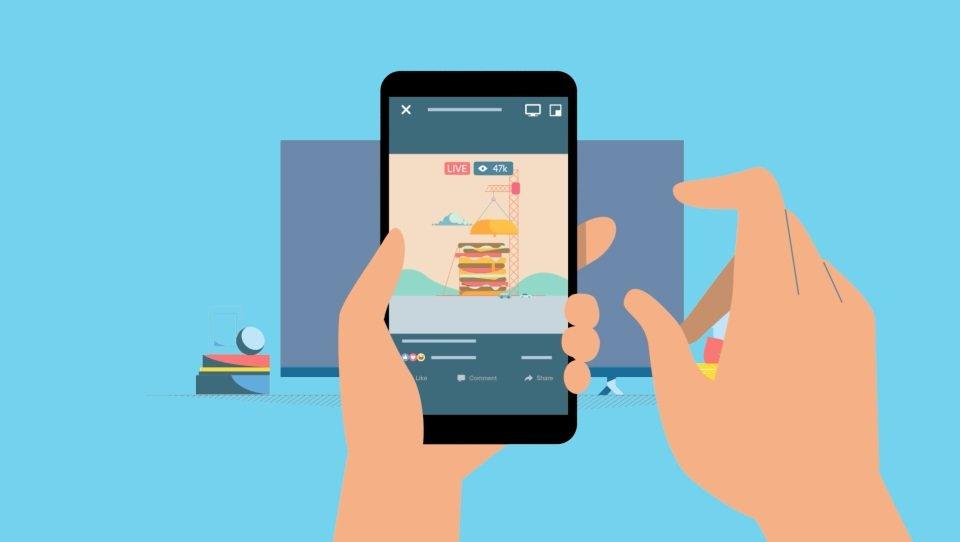 Facebook em streaming na TV