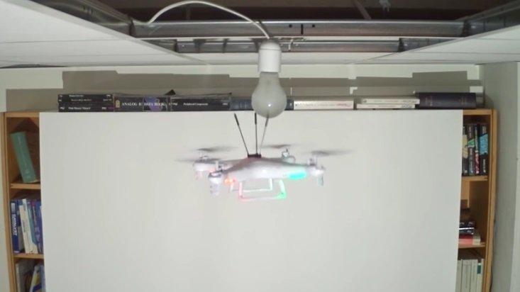 drone a substituir lampada