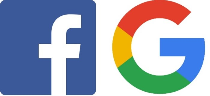 facebook e google logotipos