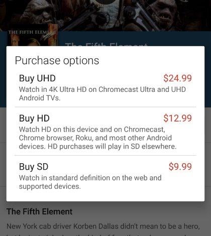 preço do conteúdo uhd