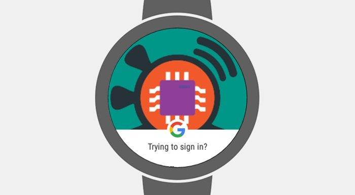 Google android wear autenticação
