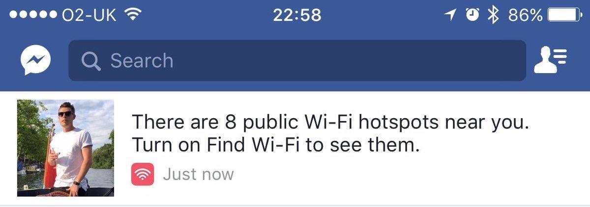 notificação de wifi proximo