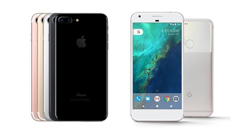 google pixel e iphone