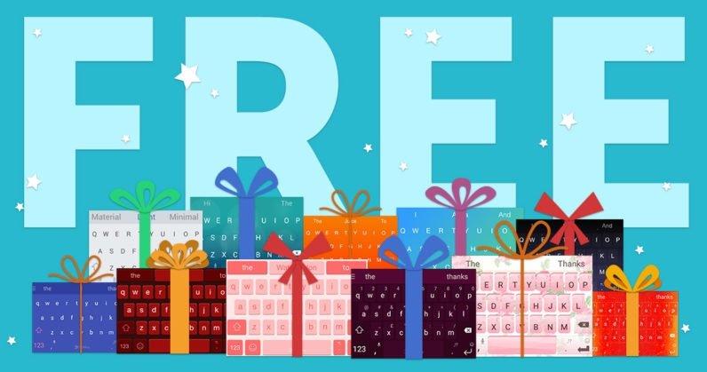 SwiftKey oferece todos os temas gratuitamente este Natal