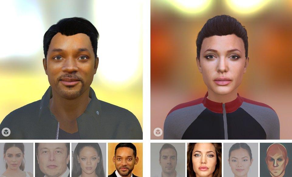 avatares por selfies