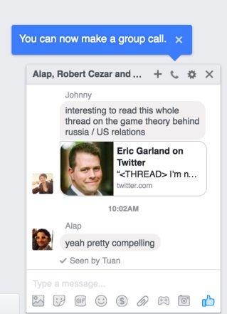 facebook chat com grupos no desktop