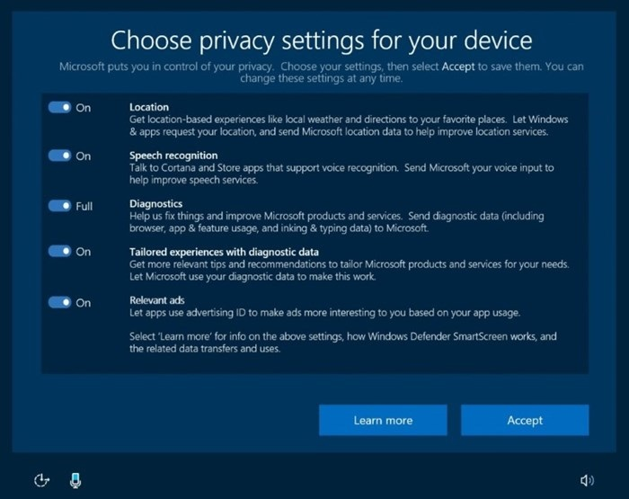 microsoft privacidade