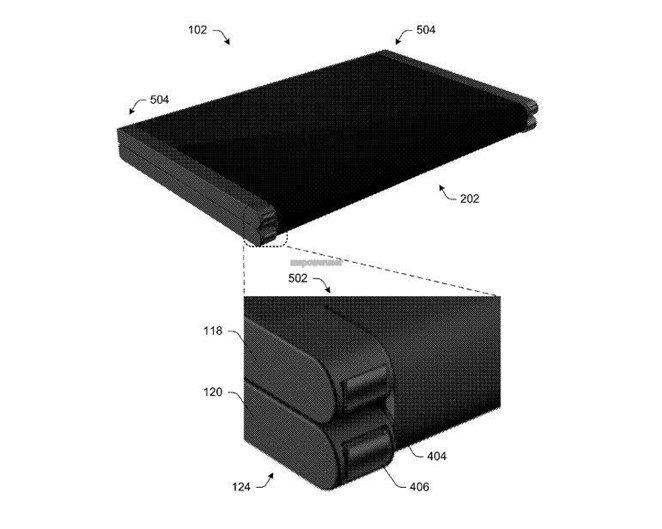 patente da microsoft para equipamento dobrável
