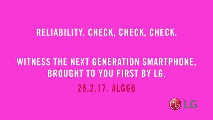 lg g6 confiança