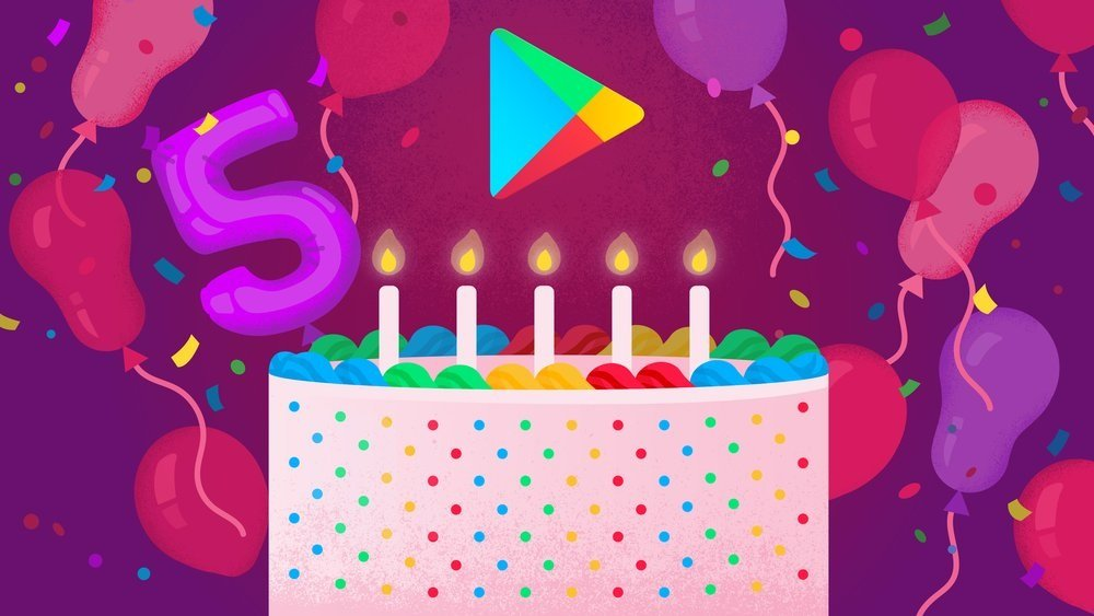 google play cinco anos