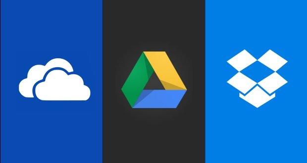 google drive vs onedrive vs dropbox