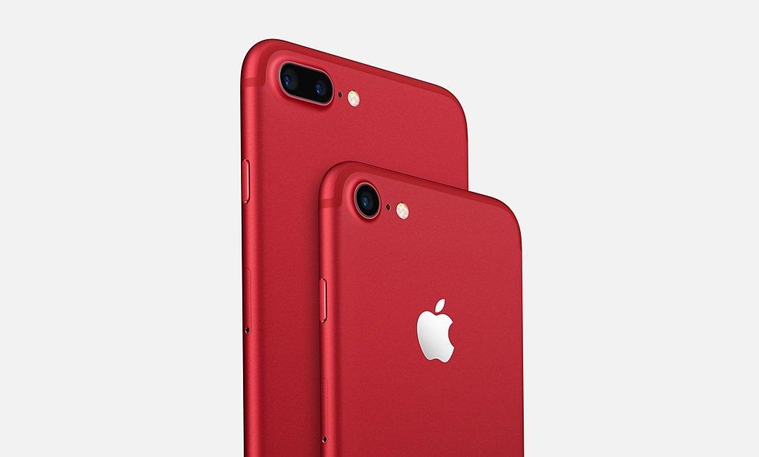 Apple iphone vermelho