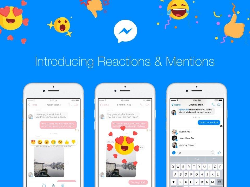 facebook reações