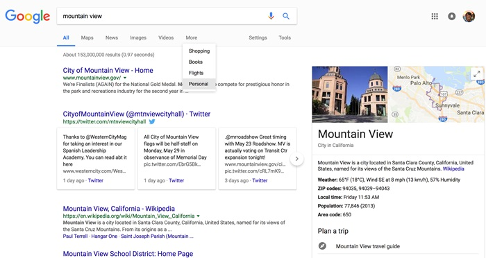 google pesquisa pessoal