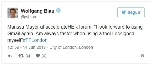 tweet de Wolfgang Blau, CDO da Condé Nast International