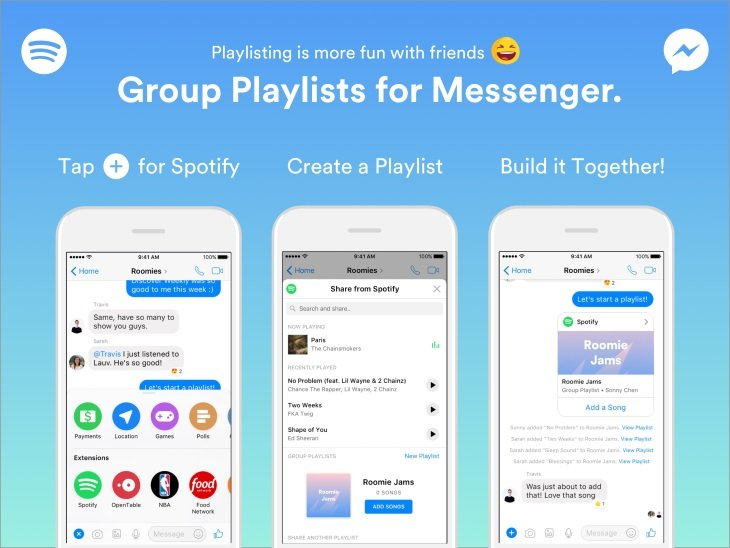 spotify for messenger