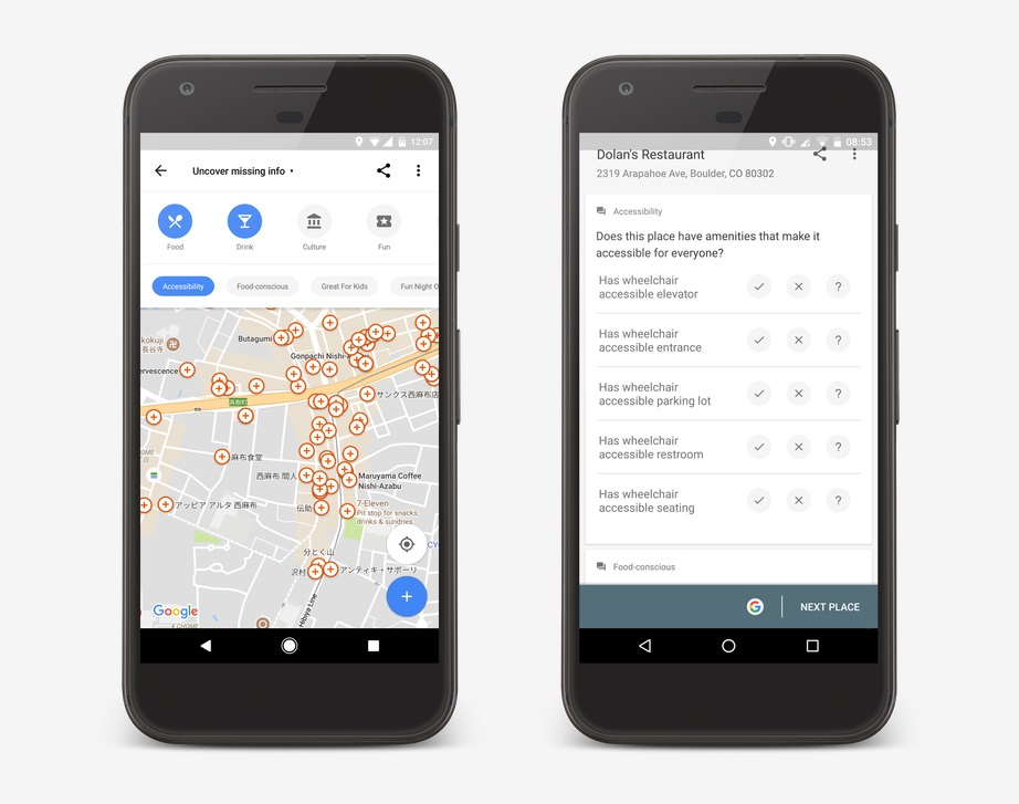 google maps acessibilidade deficientes motores