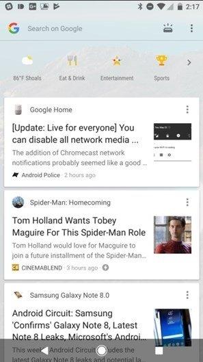 google now novo design