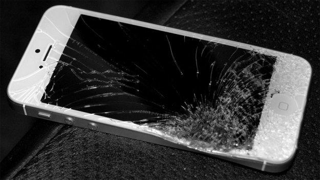 ecrã partido smartphone
