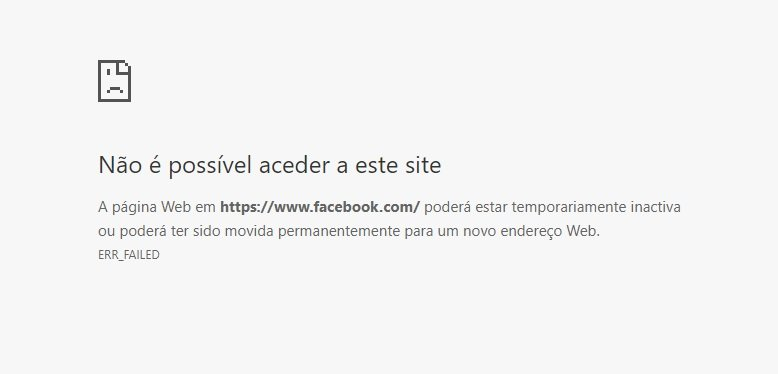 chrome erro facebook