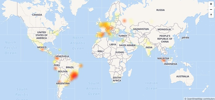 mapa da indisponiblidade