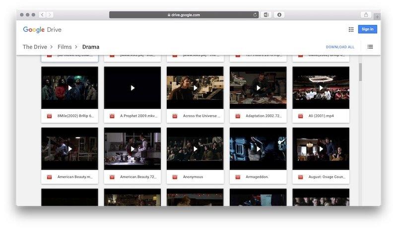 filmes no google drive