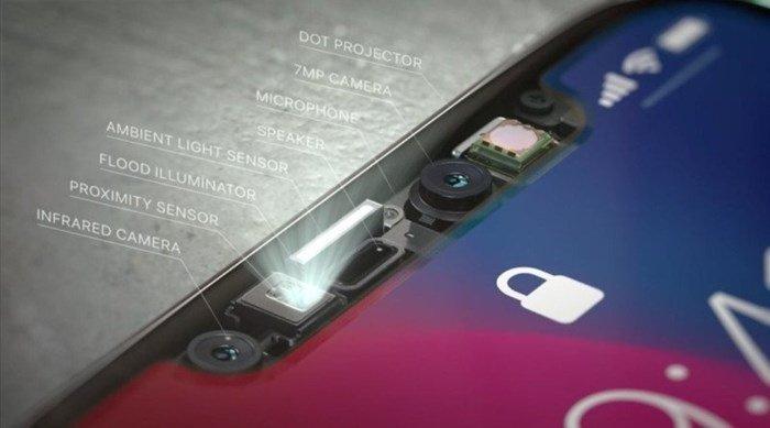 iphone x câmera frontal