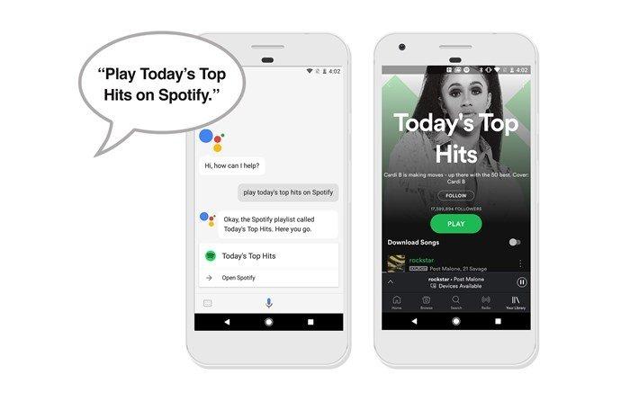 Google assistente e spotify