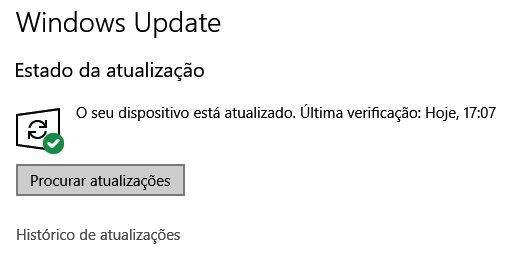 windows update botão