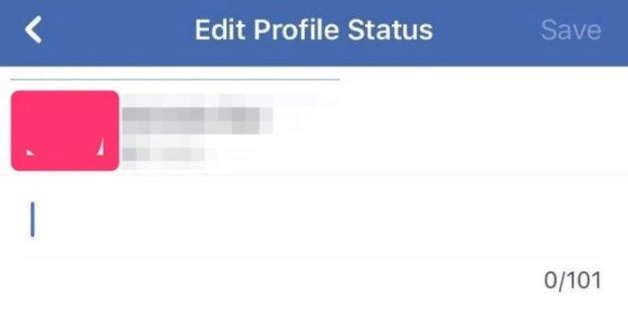 mensagem de status do facebook